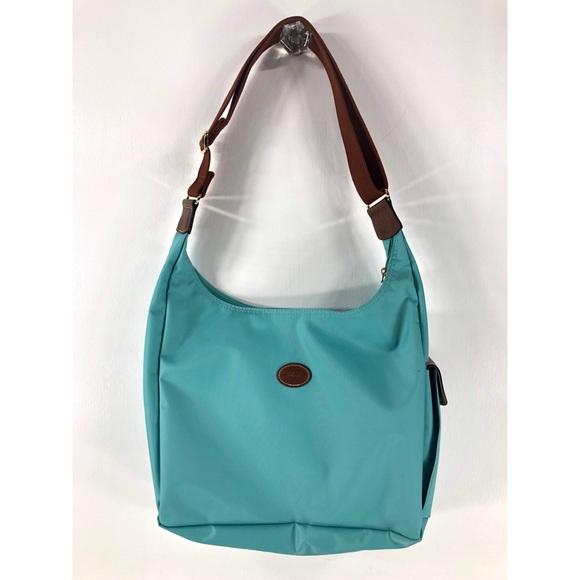 931fc1c81c74 longchamp 1948 aqua purse (4-11c)